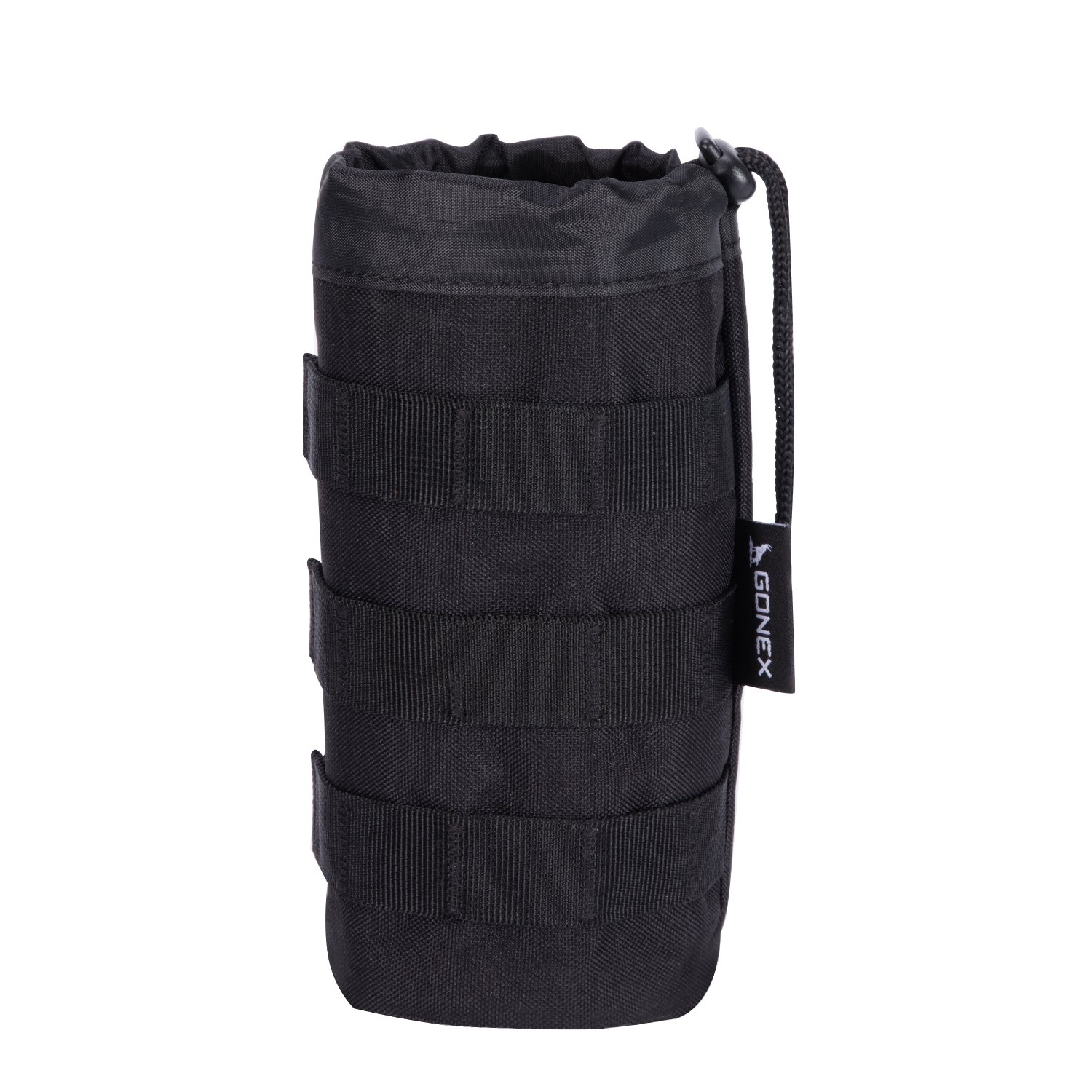 Gonex Tactical Molle Water Bottle Pouch H2O Hydration Carrier (Black)