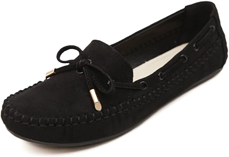 Women/'s casual Suede Casual Bowknot Moccasins Driving Loafers Slip-on Shoes