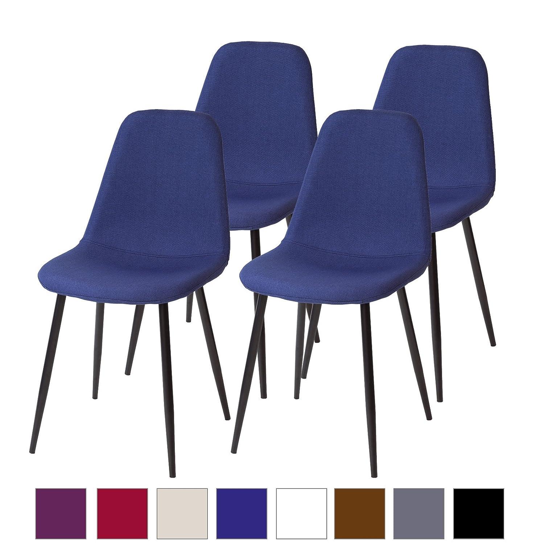 Albatros Bari - Set di 2 sedie da sala da pranzo, stile retrò, colore: Bianco Albatros International GmbH 3333022