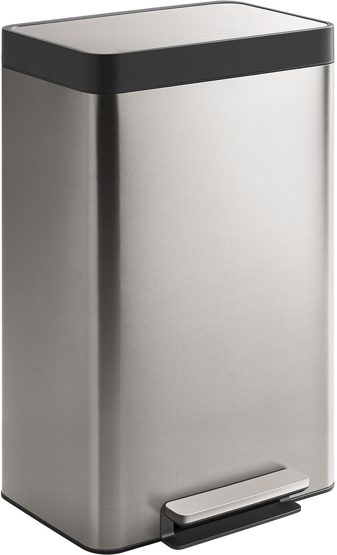 Kohler 20940-ST 13-Gallon Stainless Trash Can, Stainless Steel