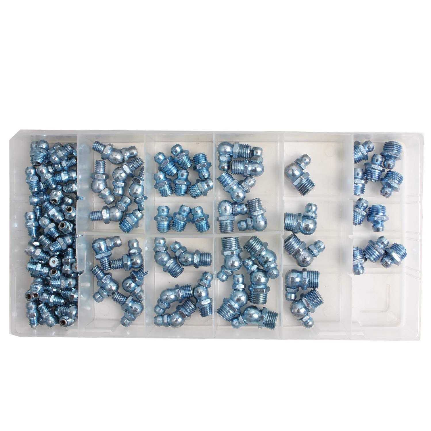 CCLIFE 110 piezas Surtido de engrasadores 45°90° M6 M8 M10: Amazon ...