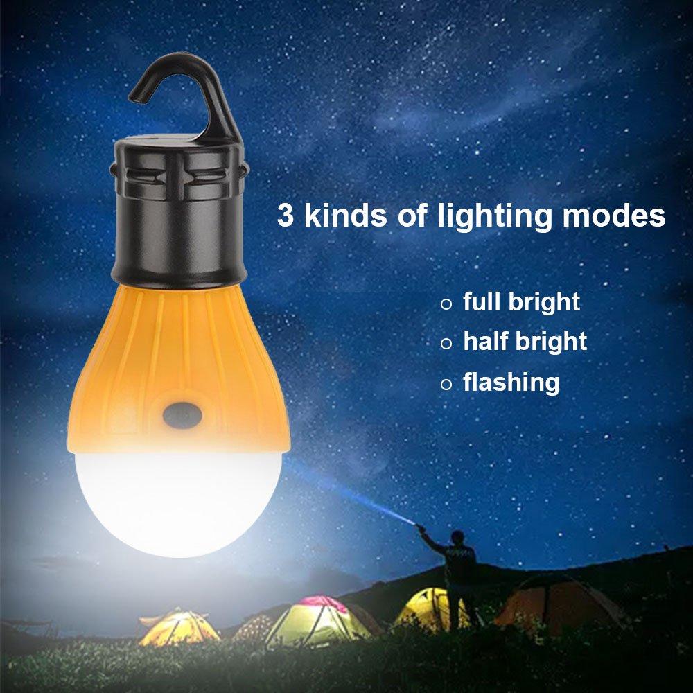 Tomone LED Camping Licht wasserdicht Notfall Zelt Licht f/ür Camping Wandern Wandern Angeln Jagd Bergsteigen 2 LED lichts tragbare Zelt Lampe