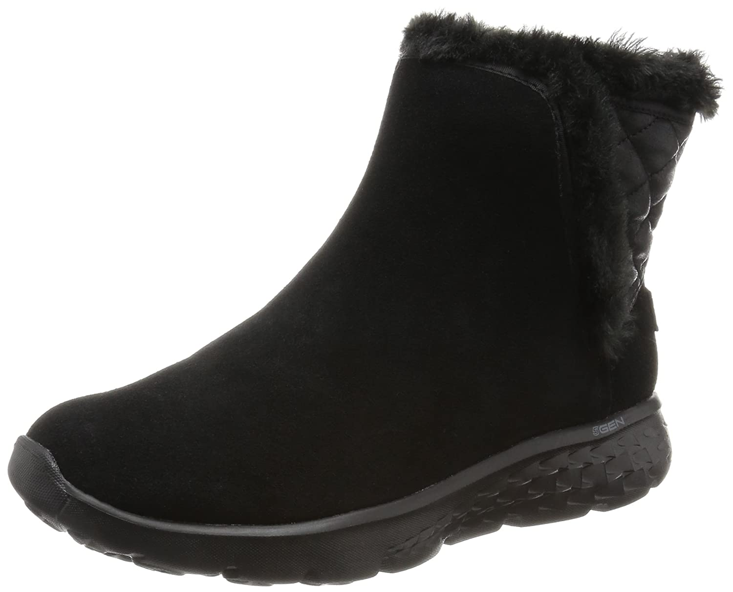 Skechers Damen on-The-Go 400 Cozies Kurzschaft Stiefel  39 EU|Schwarz (Bbk)