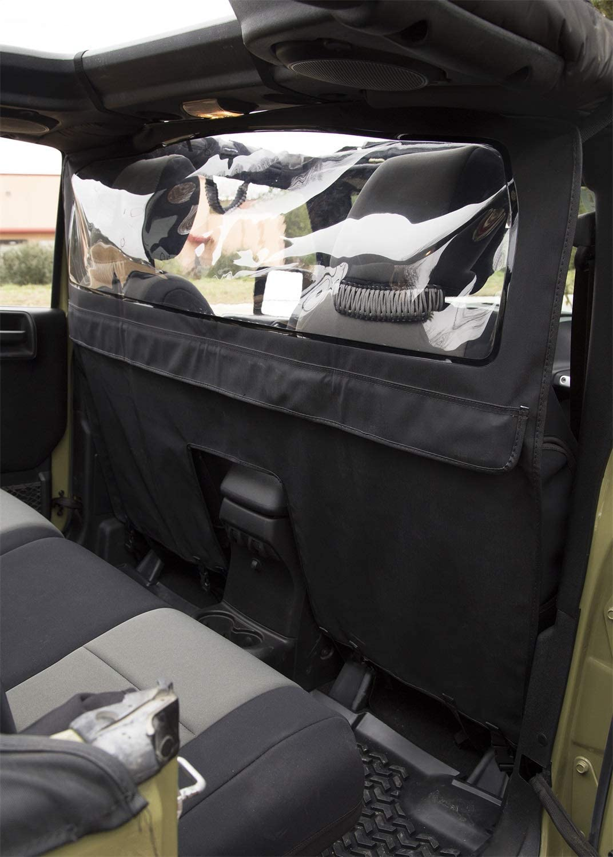 Rugged Ridge 13552.51 Windbreaker; 07-18 Jeep Wrangler JKU 4 Door