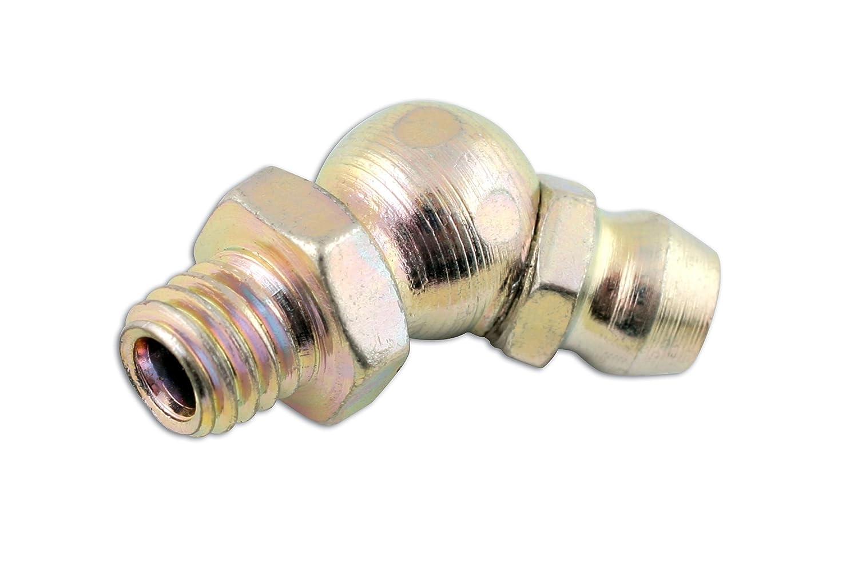 Ingrassatore angolare a 45/° Confezione di 50 Pezzi M6 x 1mm Connect 31215