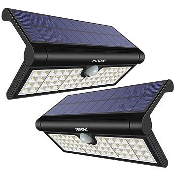 Mpow 58LED Plegable Luz Solar,Sensor de Movimiento, Luz Exterior Portátil, Luz de