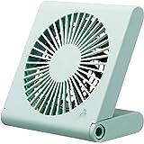 ドウシシャ 卓上扇風機 スリムコンパクトファン 3電源(AC USB 乾電池) 風量3段階 静音 ピエリア ブルー FSU-106U BL