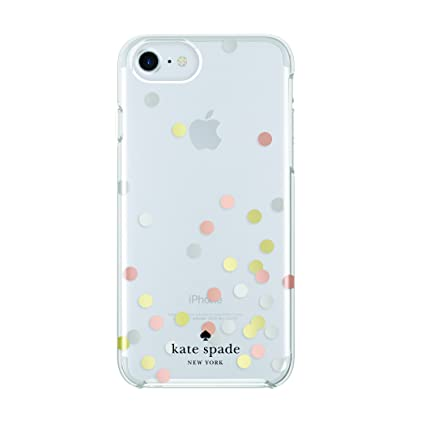kate spade new york Protective Hardshell Case for iPhone 7 - Confetti Dot  Clear / Silver
