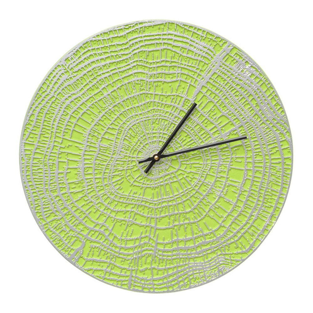 Whitehall 16'' End Grain Clock Agn/Silver - 02180