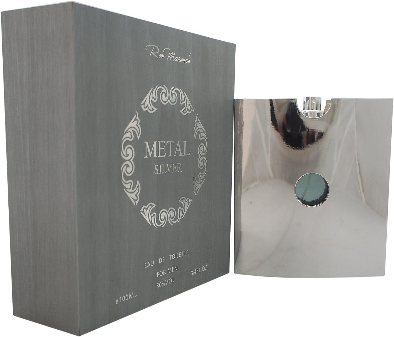 Ron Marones Metal Silver EDT Spray: Amazon.es: Belleza