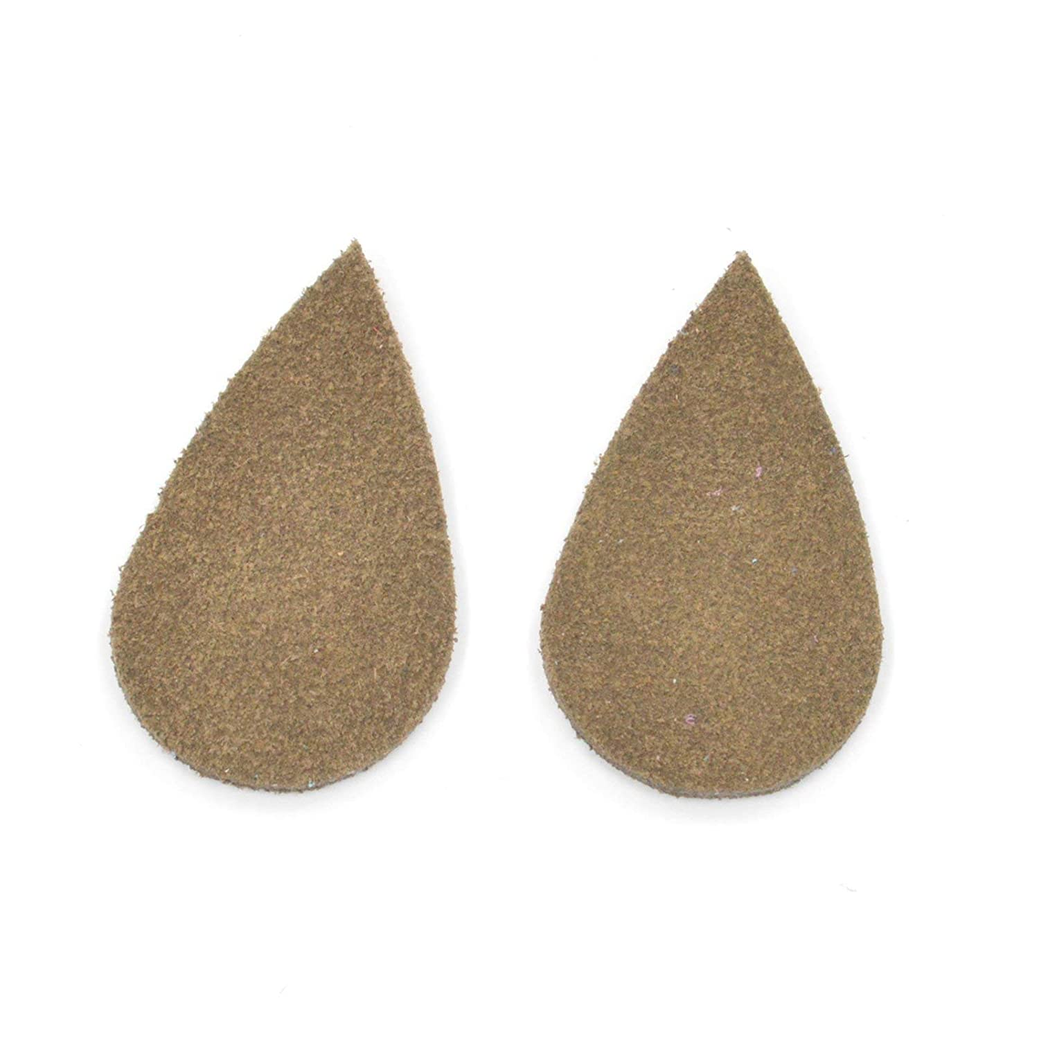 "Leather Earrings Med Teardrop Window Die Cut 12pk Bakersfield Navy Blue/""Cali/""DIY"