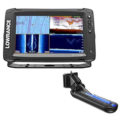 Amazon com: Lowrance Elite-9 Ti Combo with TotalScan Transom