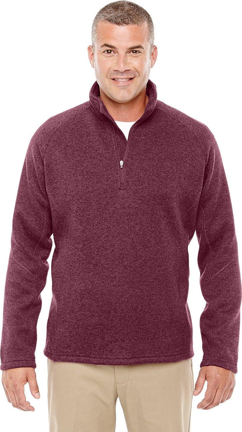 Devon & Jones DG792 - Mens Bristol Sweater Fleece Half-Zip at Amazon Mens Clothing store: