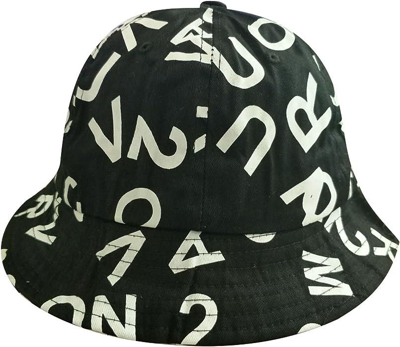 669f2a7fefe5d7 Women's Banana Alphabet Print Summer Fishing Bucket Hat Visor. Back.  Double-tap to zoom