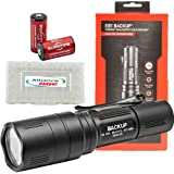SureFire EB1 Backup Dual Output LED Flashlight 300 Lumens w/ 2x EXTRA Surefire CR123A batteries and Alliance Gadget battery case