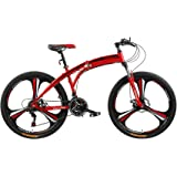 Fitness Minutes Folding Bike, Red, FM-F26-02M-RD