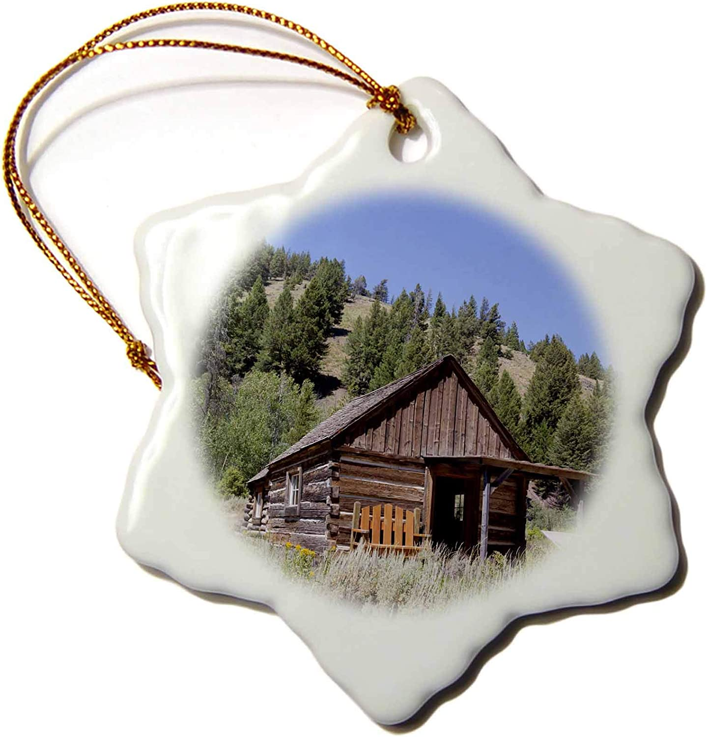 3dRose USA, Idaho, Custer, Gold Miners Cabin - US13 JWI0069 - Jamie and. - Ornaments (ORN_144322_1)