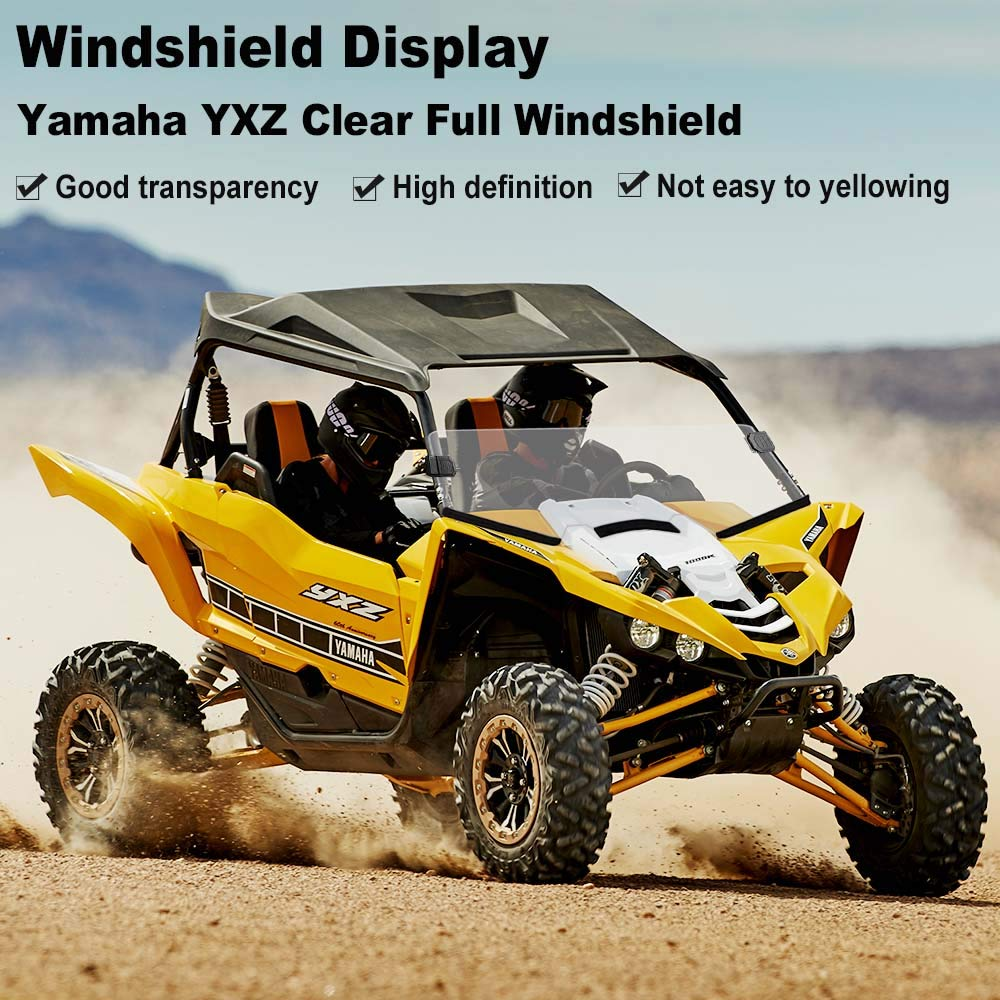 Yamaha Half Front Windshield Scratch Resistant Windscreen with Clamp for UTV Yamaha YXZ 2016-2018