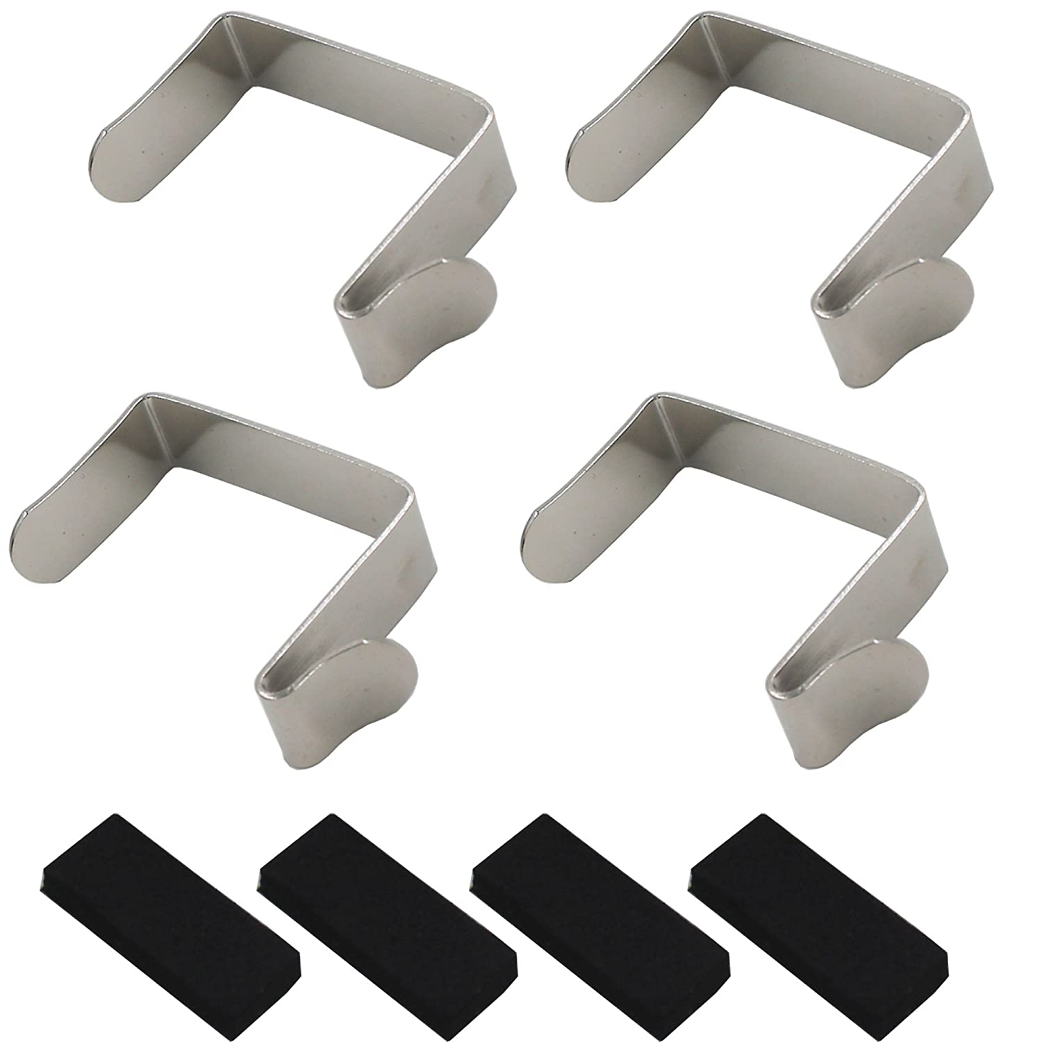 YYST Over Door Hooks Shoe Organizer Hooks Fit up to 1 3 4 inch Door Nickel Steel 4 PK