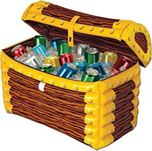 Inflatable Treasure Chest Cooler (holds apprx 48 12-Oz cans) Party Accessory(1 count) (1/Pkg)