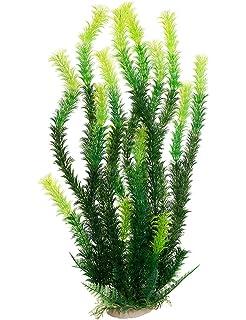 45cm Planta Artificial Plástico Decoración para Acuario Pecera