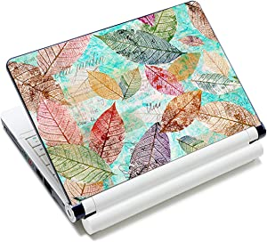 Laptop Stickers Decal,12 13 14 15 15.6 inches Netbook Laptop Skin Sticker Reusable Protector Cover Case for Toshiba Hp Samsung Dell Apple Acer Leonovo Sony Asus Laptop Notebook (Leaf)