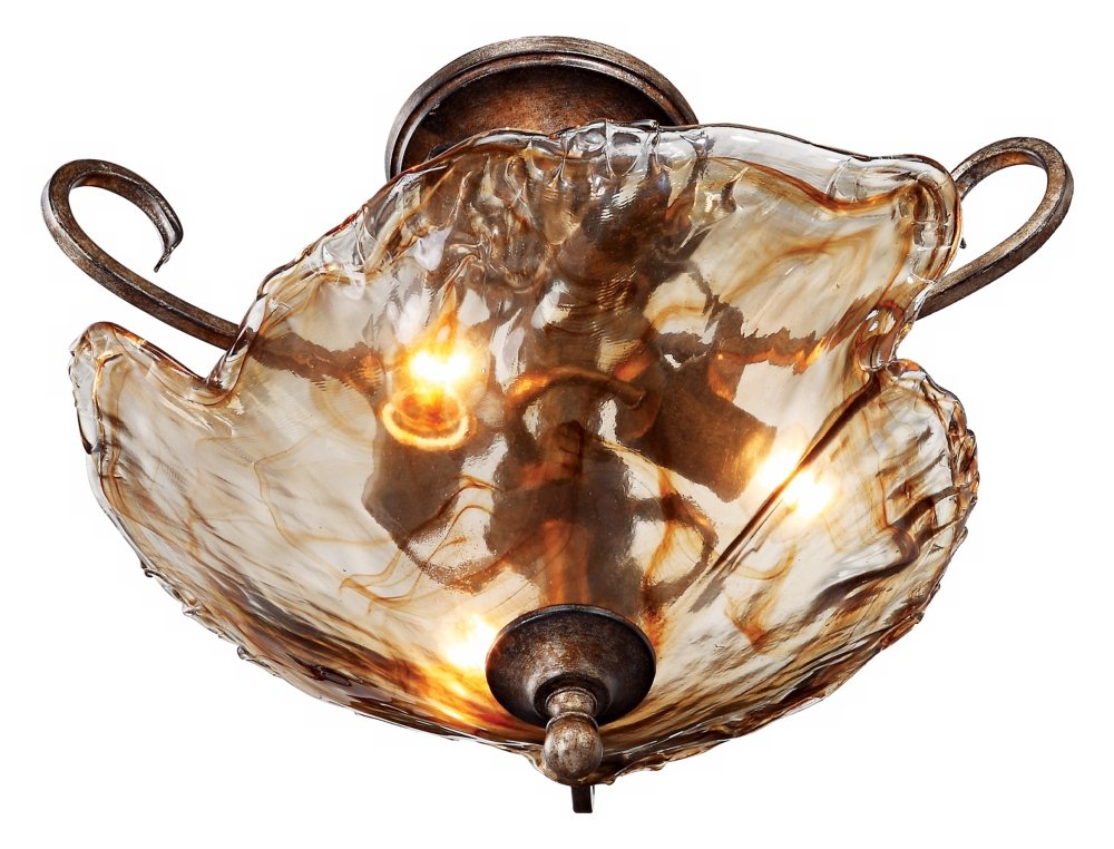 Amber scroll 20 14 wide art glass ceiling light ceiling pendant amber scroll 20 14 wide art glass ceiling light ceiling pendant fixtures amazon aloadofball Images