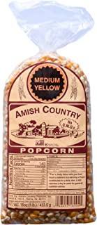 product image for Amish Country Popcorn | 1 lb Bag | Medium Yellow Popcorn Kernels | Old Fashioned with Recipe Guide (Medium Yellow - 1 lb Bag)