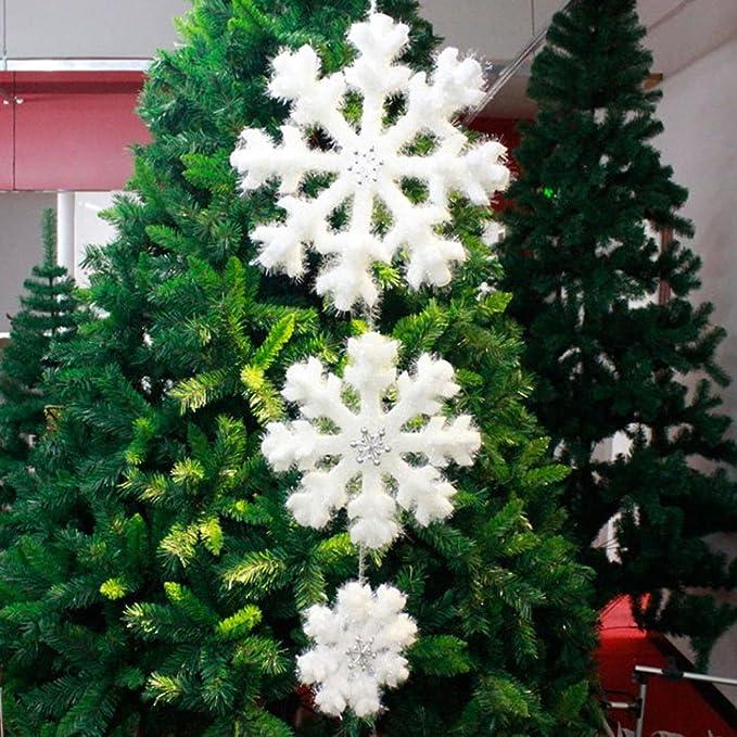 artistic9 (TM) blanco copo de nieve Espuma fantasías árbol de Navidad adornos casa decor-pack de 3: Amazon.es: Hogar