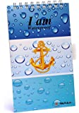 Parax Paper 15cm x 9cm I Am Waterproof Divers Spiral Notepad - Glossy Lamination Blue