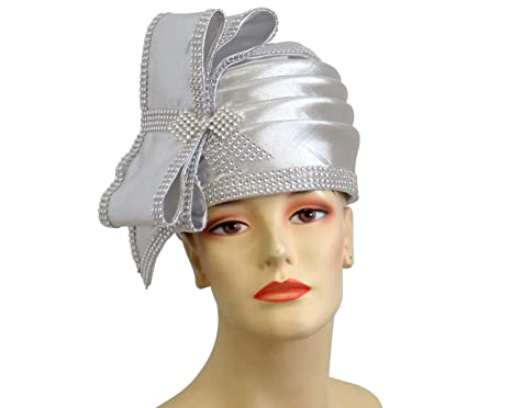 Ms Divine Women s Metallic Pillbox Church Hats Dress Formal Hats  L06 ( Silver) 233cd0035b5