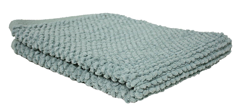 Ultra Soft Plush Absorbent Cotton Popcorn Bath Rug, 22x30, Machine Washable, Perfect Bath Mat for Shower, Vanity, Bath Tub, Sink, and Toilet-White 22x30 J & M Home Fashions 7144