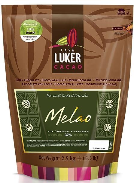 CasaLuker Melao 37% - Chocolate de Cobertura con Leche 2,5kg