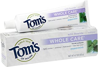 product image for Tom's Of Maine Toms of Maine Whole Care with Fluoride Natural Toothpaste, Peppermint - 4.7 Oz, 4.7 Oz