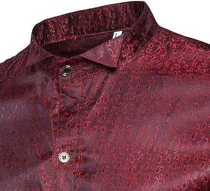 Chevalier - Camisa de Hombre de Moda Larga, Blusa Brillante ...
