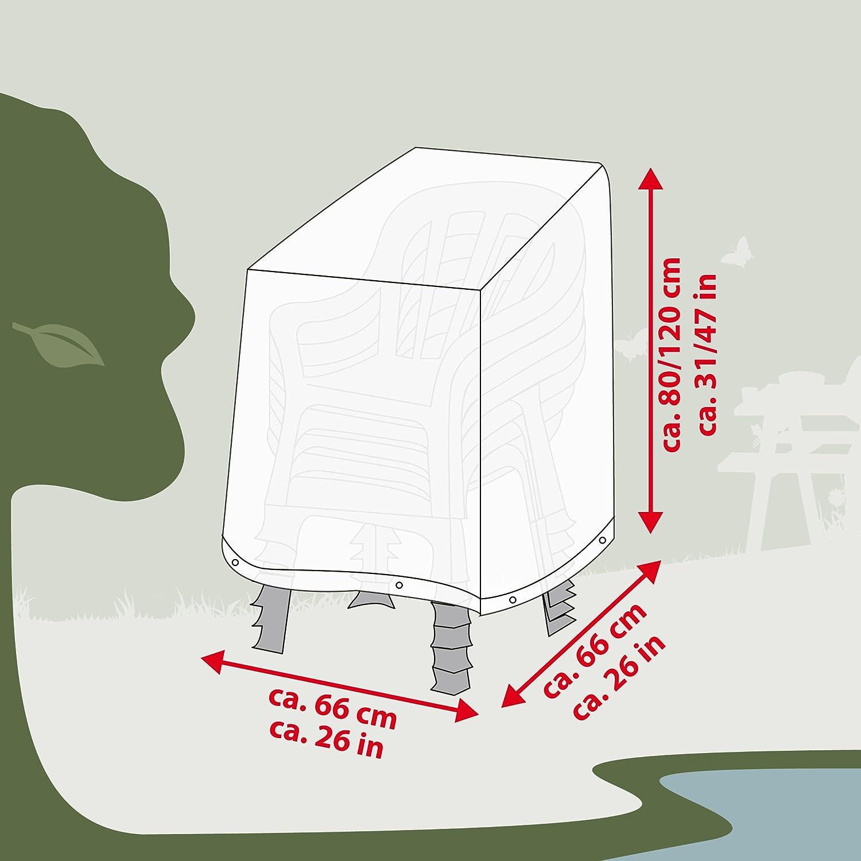 Ultranatura Fodera Protettiva in Tessuto Sylt per Max Fodera Protettiva Contro Le intemperie per sedie da Giardino 6 sedie sovrapponibili