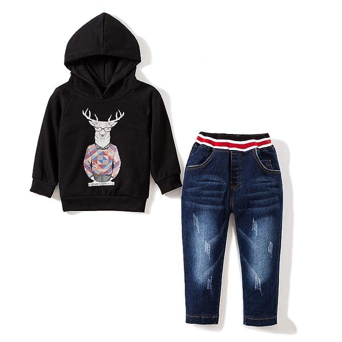 Amazon.com: Conjunto de ropa para niños con capucha y ...