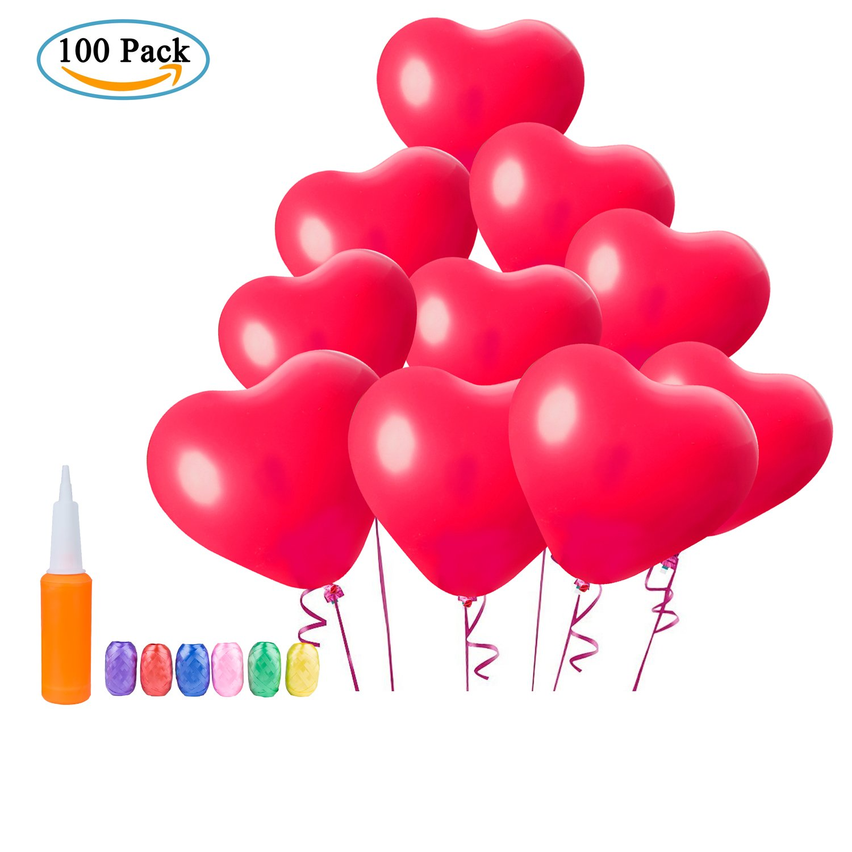 Globos con forma de Corazon (Rojo)
