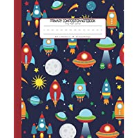 Primary Composition Notebook Story Paper Journal: Dashed Midline And Picture Space School Exercise Book | 120 Story…