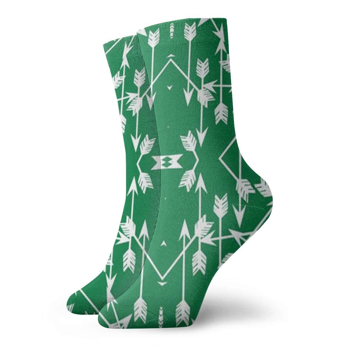 Jokerbilibili Arrow Green Unisex Print Athletic Quarter//Ankle Running Hiking Socks-Weekend Lounge Short Crew Socks