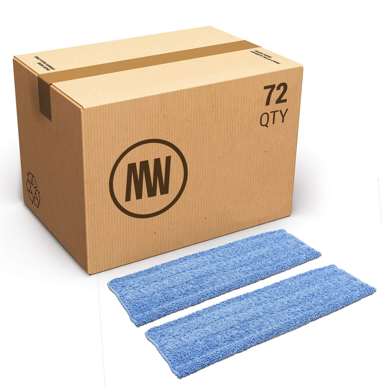 Bulk 20'' Premium Microfiber Wet Mop Pad   Wholesale Professional Microfiber Mop Pad Refills   Case Quantity (72 Count) by Microfiber Wholesale