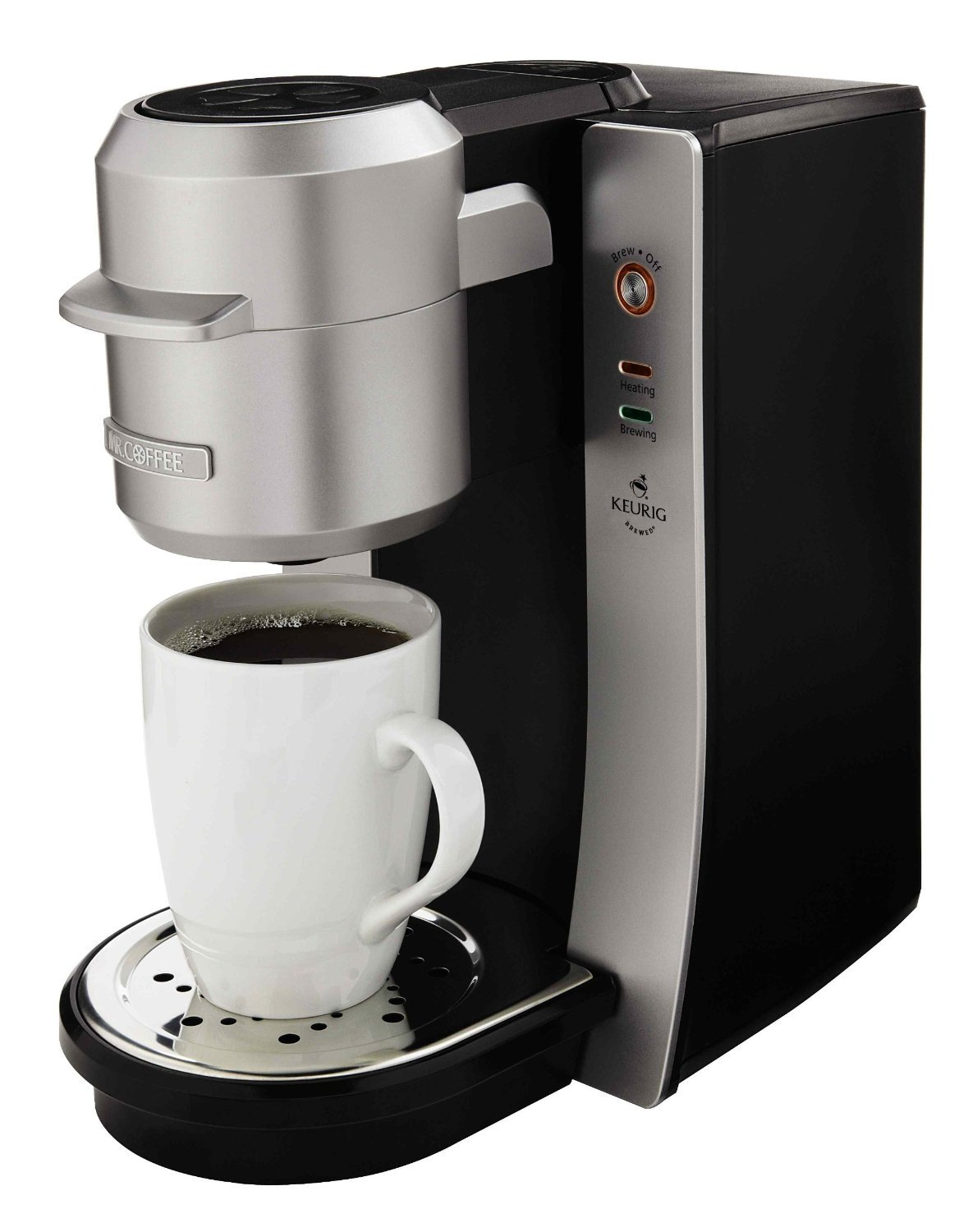 Mr. Coffee BVMC-KG2-001 Single Serve Coffee Maker, Silver by Mr. Coffee