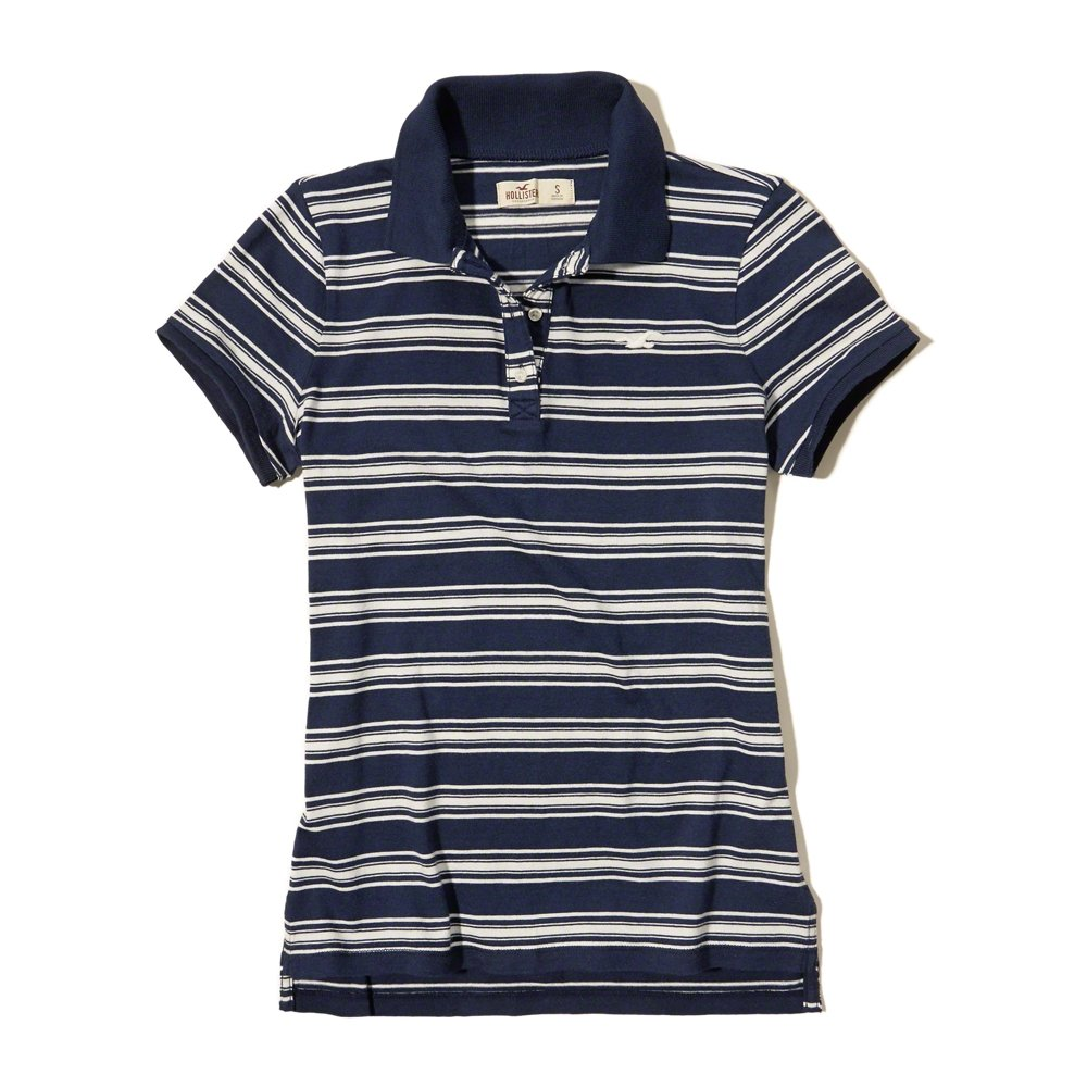 Hollister - Polo - para mujer azul azul marino Large: Amazon.es ...