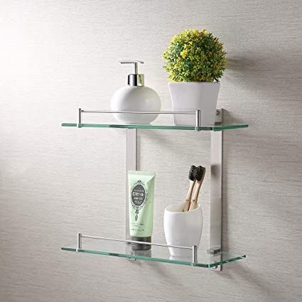Marvelous Kes Bathroom Lavatory Double Glass Shelf Wall Mount Brushed Sus304 Stainless Steel Bgs2202B 2 Download Free Architecture Designs Scobabritishbridgeorg