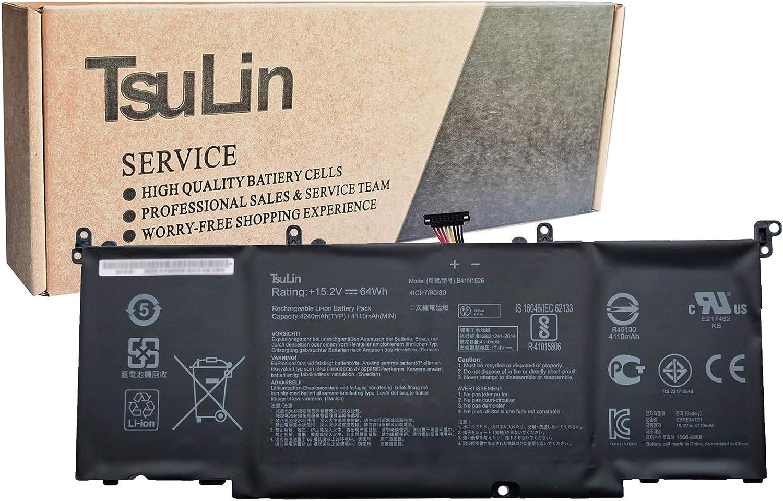 TsuLin B41N1526 Laptop Battery Compatible with Asus ROG Strix FX502VM GL502VT S5 S5V S5VM Series Notebook 15.2V 64Wh 4240mAh