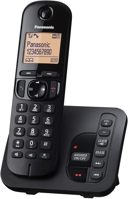 Panasonic KX-TGC220 - Teléfono (Teléfono DECT, Altavoz, 50 entradas, Identificador de Llamadas, Negro) [versión importada]: Panasonic: Amazon.es: Electrónica