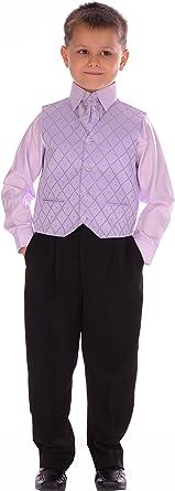 4 piezas Boys negro y lila traje 0 – 3 meses a 14 – 15 años morado ...