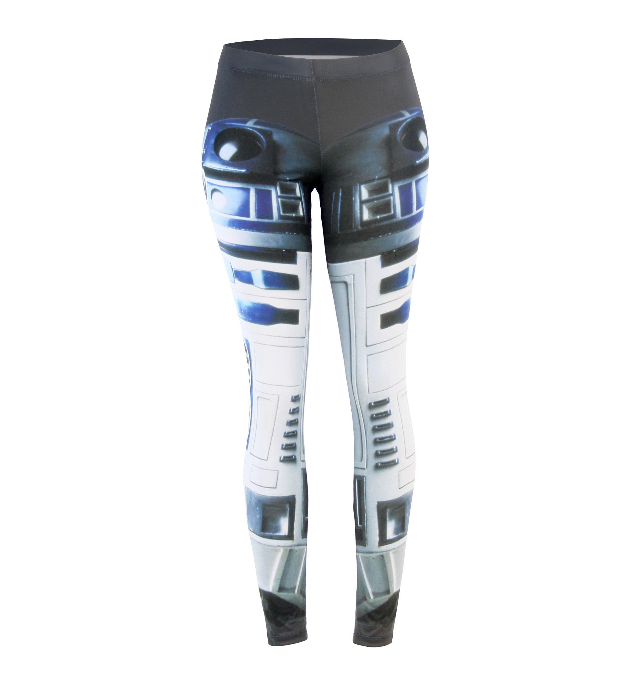 Star Wars Double Artoos R2-D2 Juniors Leggings (Large)