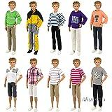 Miunana 5 Vêtements Pour Poupée Ken - Fiancé de Barbie de Livraison Aléatoire