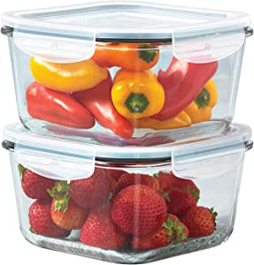 Mason Craft & More V1539 Food Storage container, 37 OUNCE SET, Clear